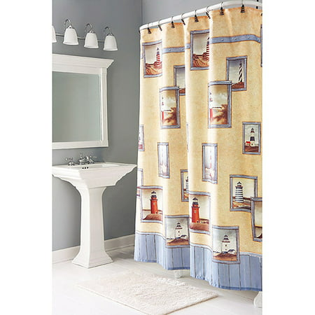 HomeTrends Painterly Lighthouse Shower Curtains 1 Each