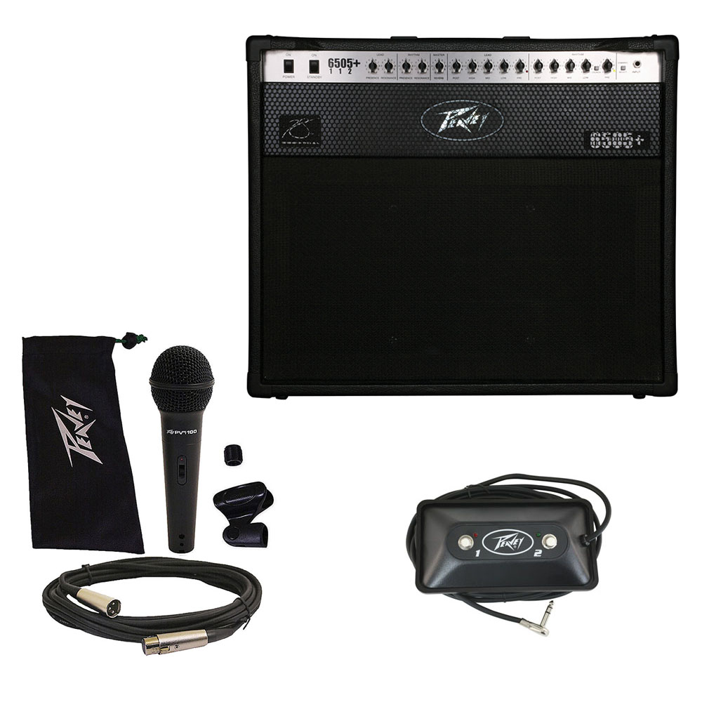 """Peavey 6505 + Plus 112 Electric Guitar 60W Amp 12"""" Combo w/ Footswitch & Mic New"""
