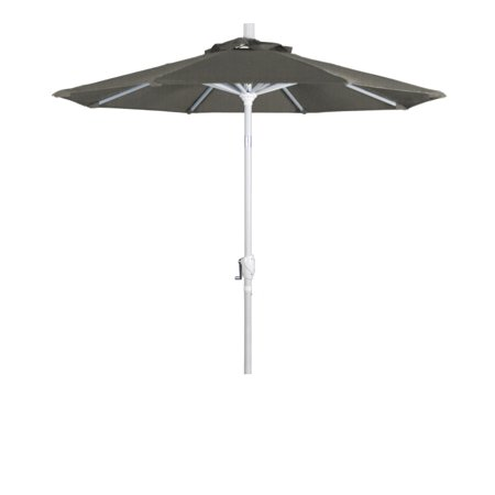 Matte Dome - Eclipse Collection 7.5 Aluminum Market Umbrella Push Tilt Matte White/Sunbrella/Spectrum Dove