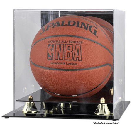 Basketball Display Case Wood (Golden Classic Basketball Display Case with Mirror Back )