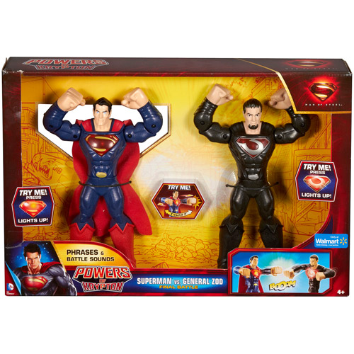 DC Comics Superman: Man of Steel Power of Krypton Superman vs General Zod Final Battle Action Figure Set