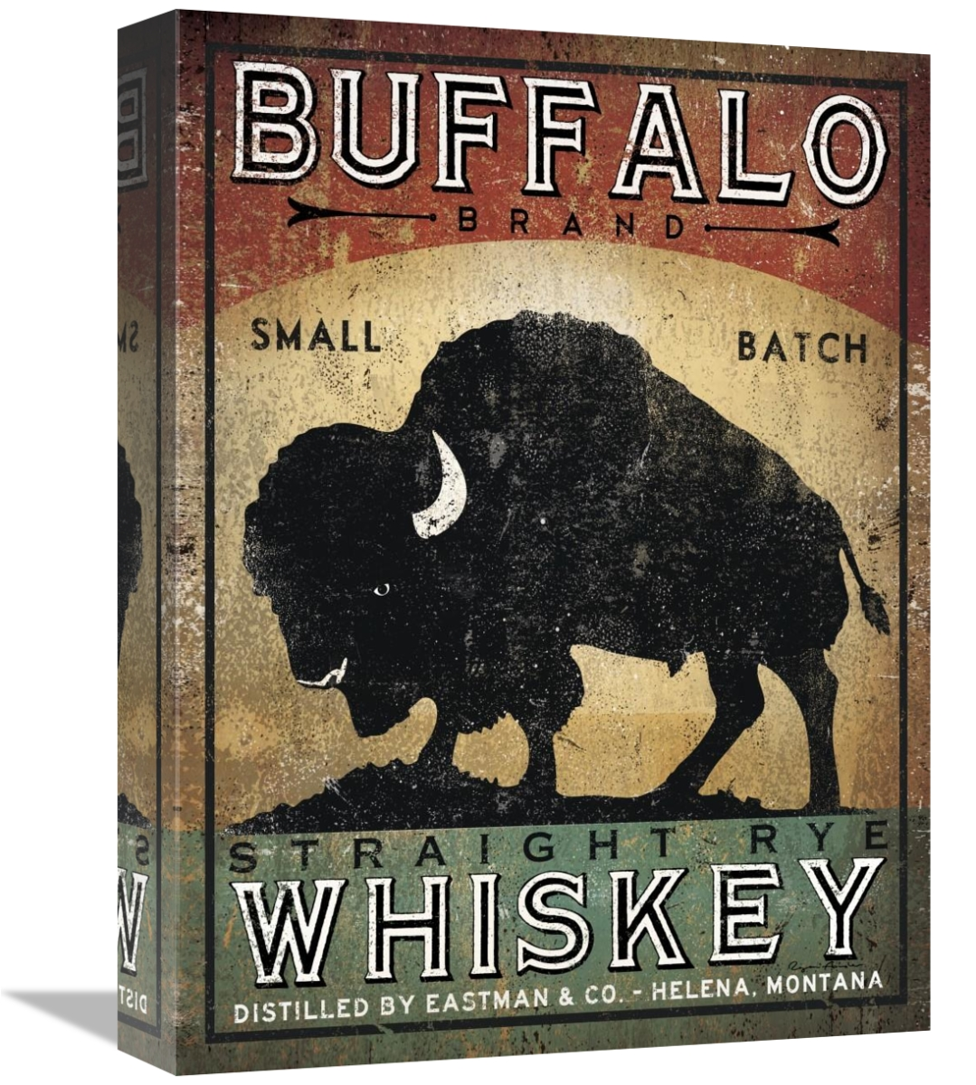 Global Gallery's 'Buffalo Whiskey' By Ryan Fowler Stretched Canvas Wall Art