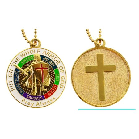 Put on Armor of God Necklace - Cross: - Christian, Sterling - Armor Of God Necklace