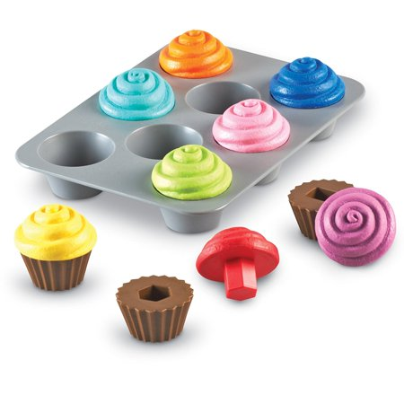 Learning Resources Smart Snacks Shape Sorting Cupcakes, Fine Motor Toy, Ages