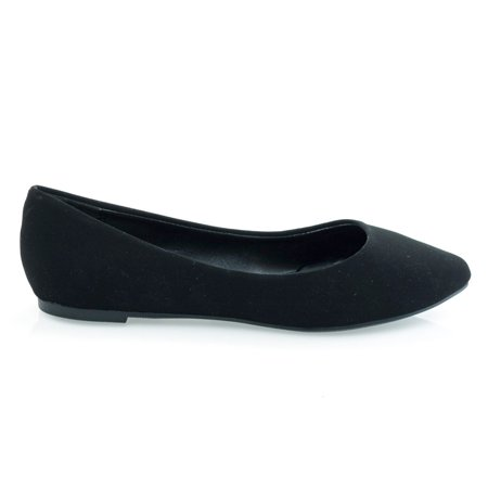 Redbud by Soda, Classic Pointed toe Flat w Padded