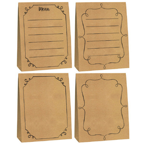 Happy Birthday 'Homemade and Delicious' Kraft Paper Menu Cards (4ct)