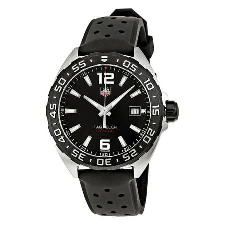Black Rubber Watch - Tag Heuer Formula 1 Black Dial Black Rubber Mens Watch WAZ1110.FT8023