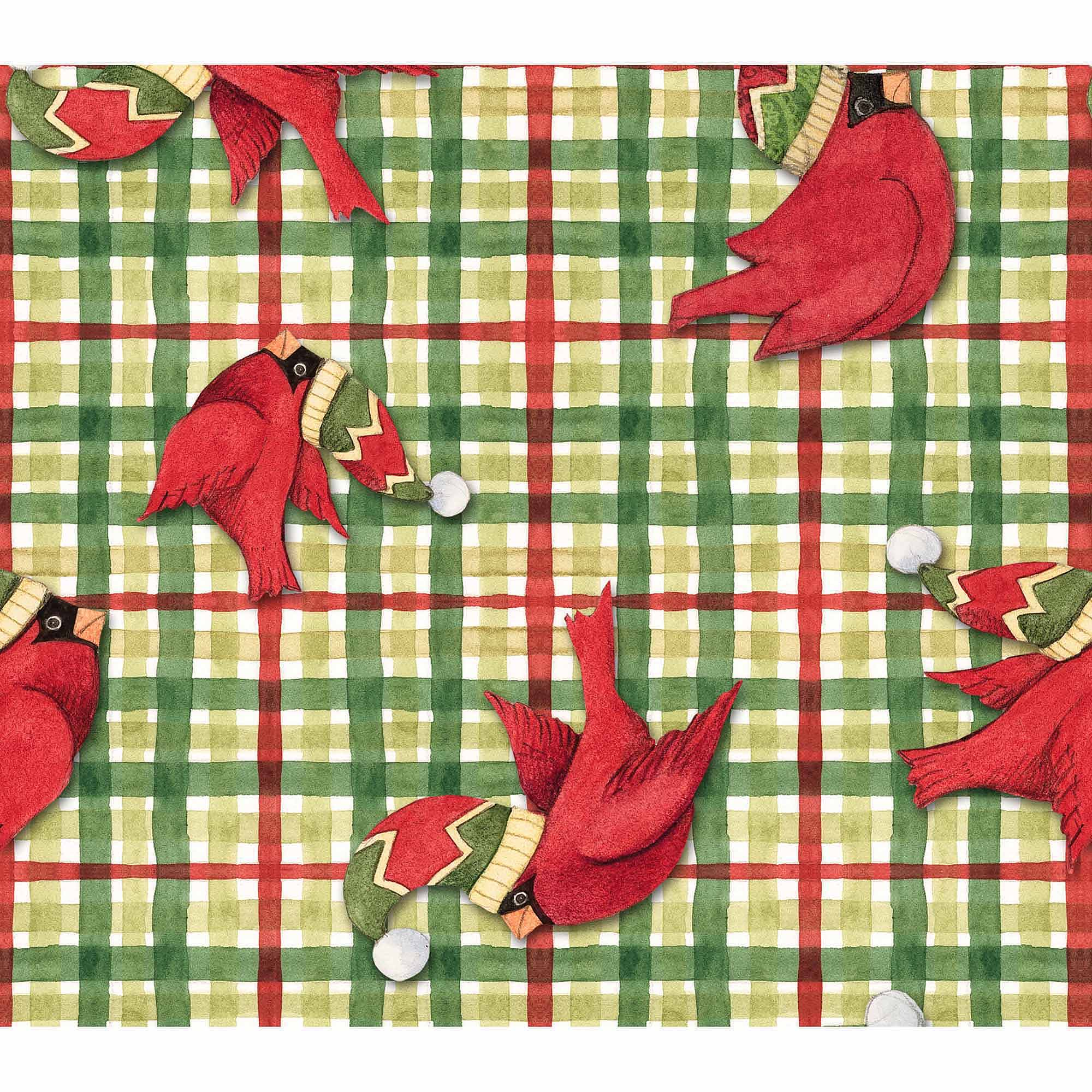 Springs Creative Christmas Plaid, Green, Fabric by the Yard