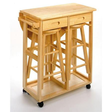 Beech Beechwood TABLE DROP LEAF 2 RD STOOL 2 DRAWERS