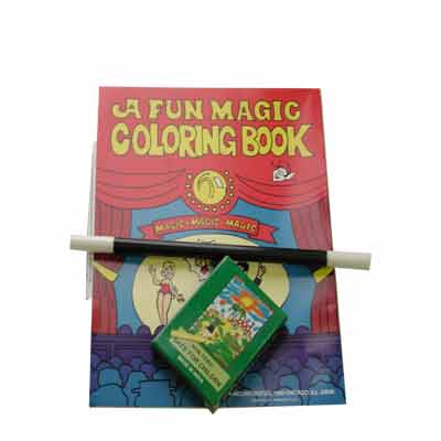 Coloring Book kit-crayon, wand, book by Royal Magic - Trick ...