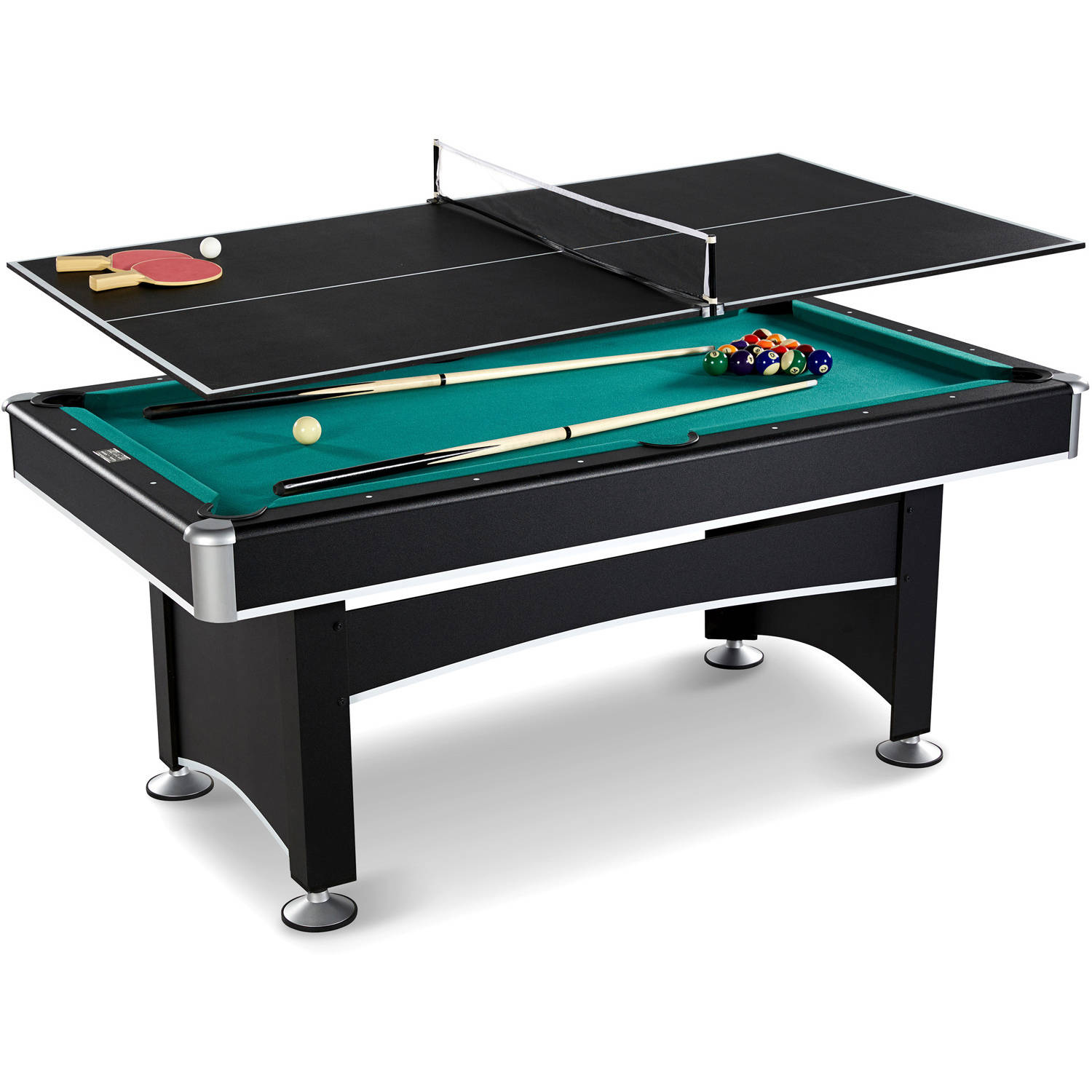 Barrington 6 Ft. Arcade Billiard Table With Table Tennis Top And Accessory  Kit