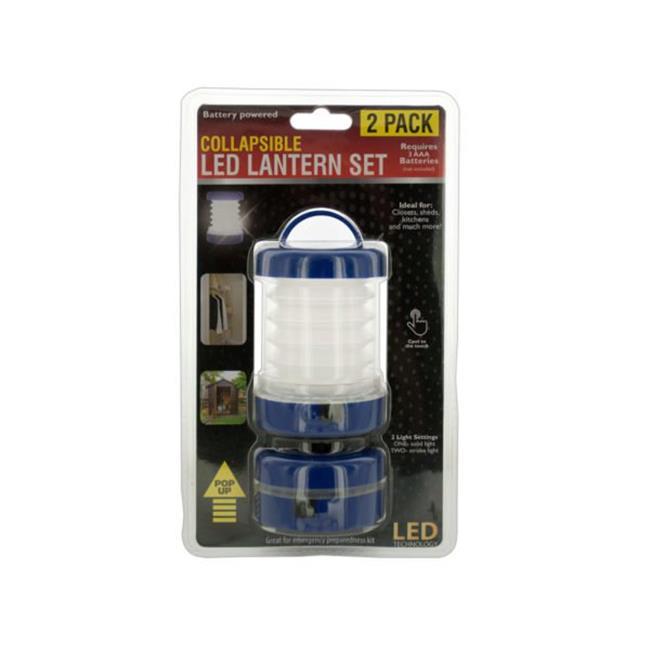 Kole Imports OS907-16 4 lbs, Collapsible LED Lantern Set - 2 Piece - image 1 of 1