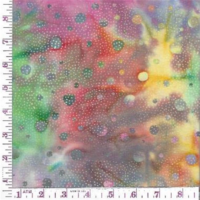Textile Creations CNJ-074 Central Java, Dots Pink & Yellow & Green