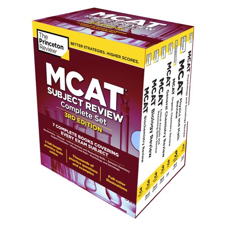 - Princeton Review MCAT Subject Review Complete Box Set, 3rd Edition : 7 Complete Books + 3 Online Practice Tests