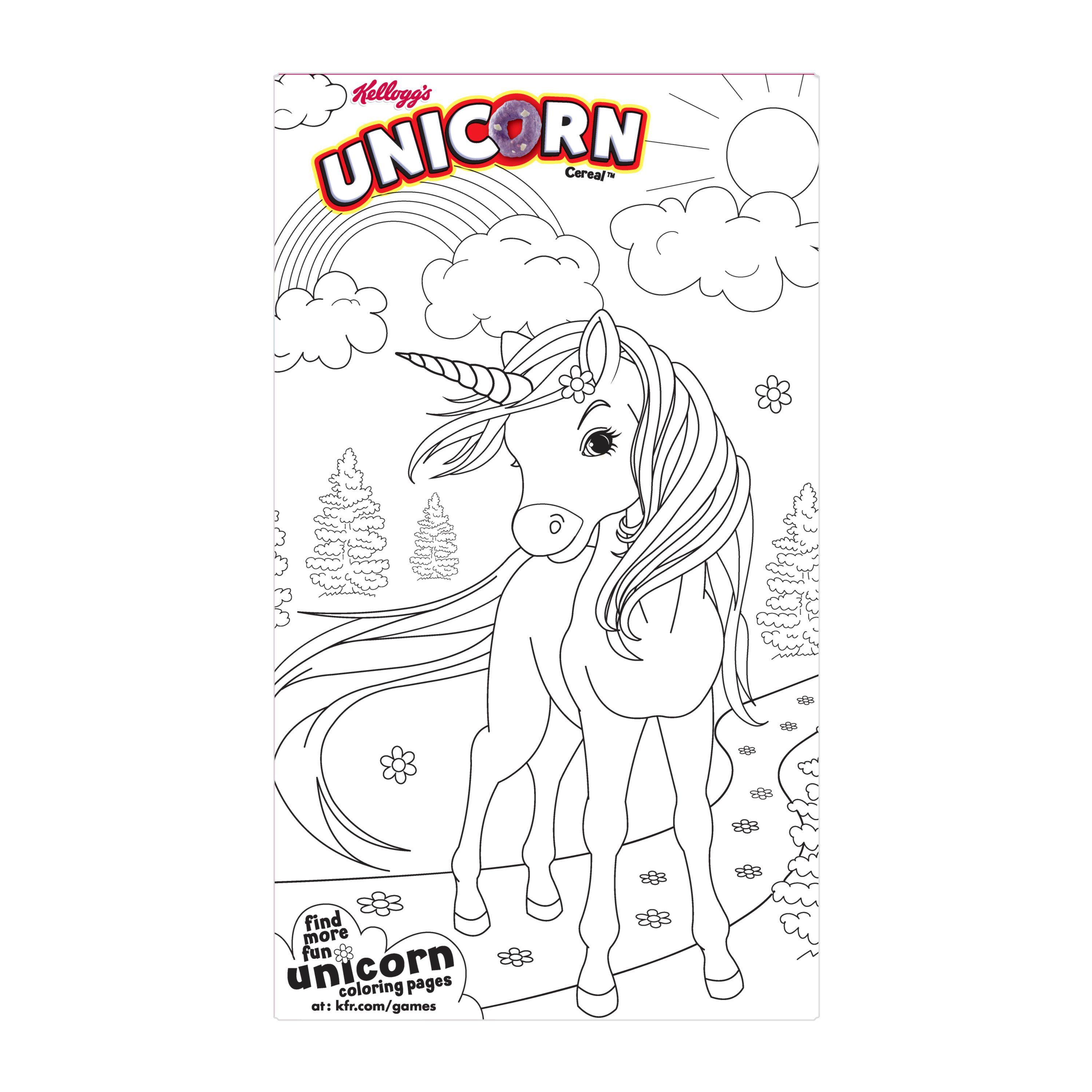 Kellogg's Unicorn Cereal Breakfast Family Size 187 Oz Rhwalmart: Kellogg S Unicorn Coloring Pages At Baymontmadison.com