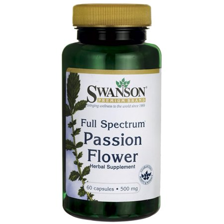 Swanson Full-Spectrum Passion Flower 500 mg 60 Caps Passion Flower Medicinal