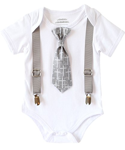 Noah's Boytique Baby Boys Baptism Christening Suit Grey ...