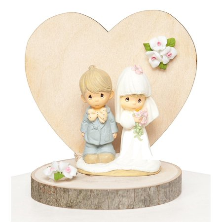 Precious Moments Rustic Wedding Cake Topper By, High quality wedding supplies, low prices By Wedding Collectibles (Precious Moments Heart Cake)