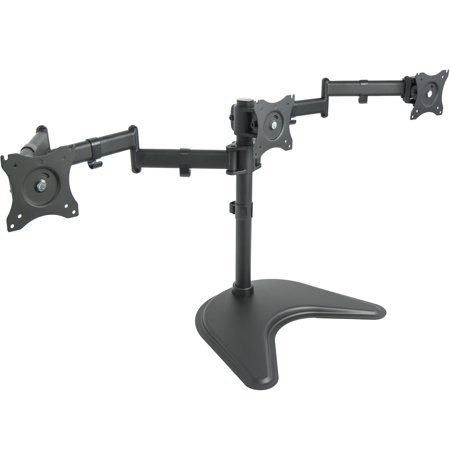 VIVO Triple Monitor Mount Fully Adjustable Desk Free Stand for 3 LCD Screens up to 24