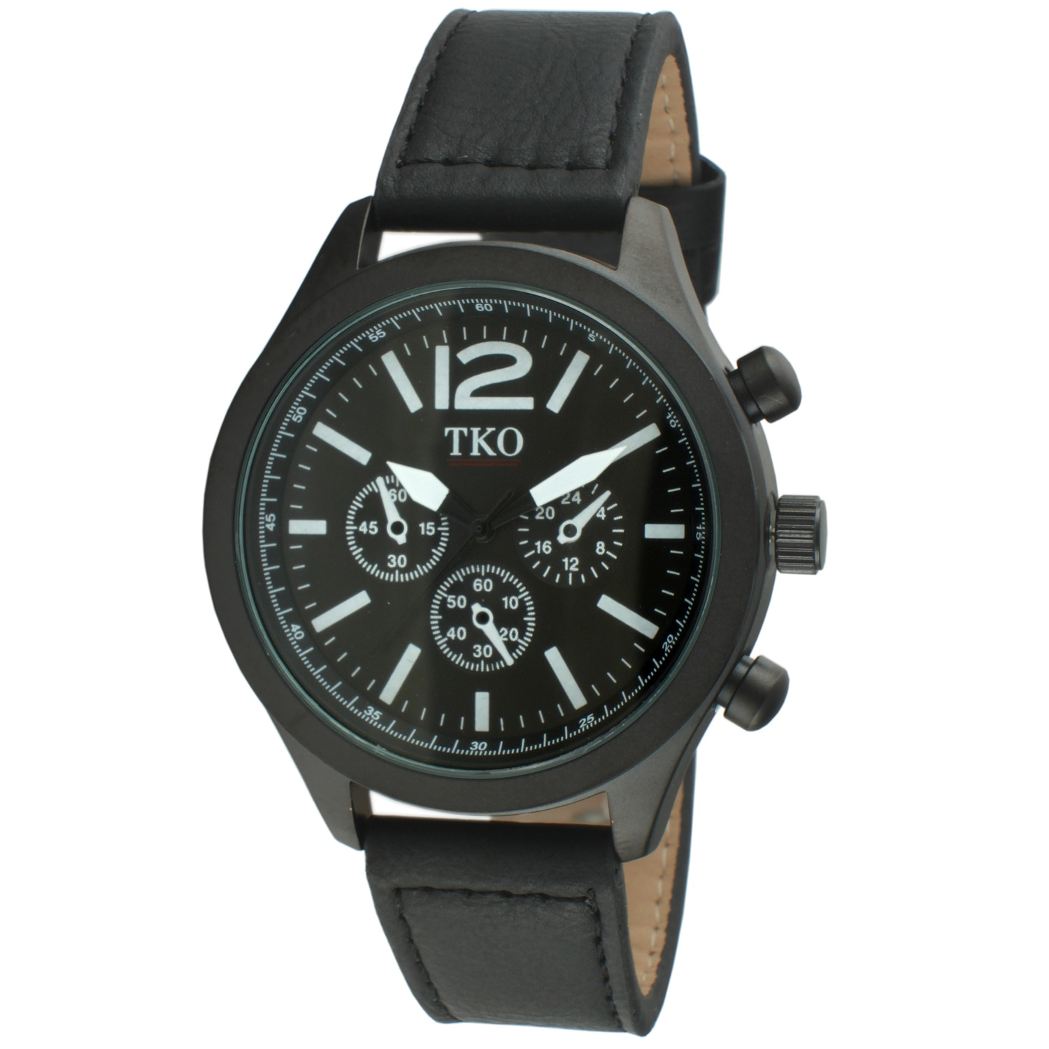 TKO  Orlogi Men's Leather Chronograph Watch