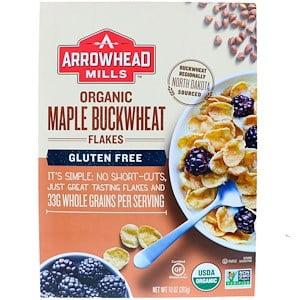 Arrowhead Mills, Organic Maple Buckwheat Flakes, Gluten Free, 10 oz (pack of 1)