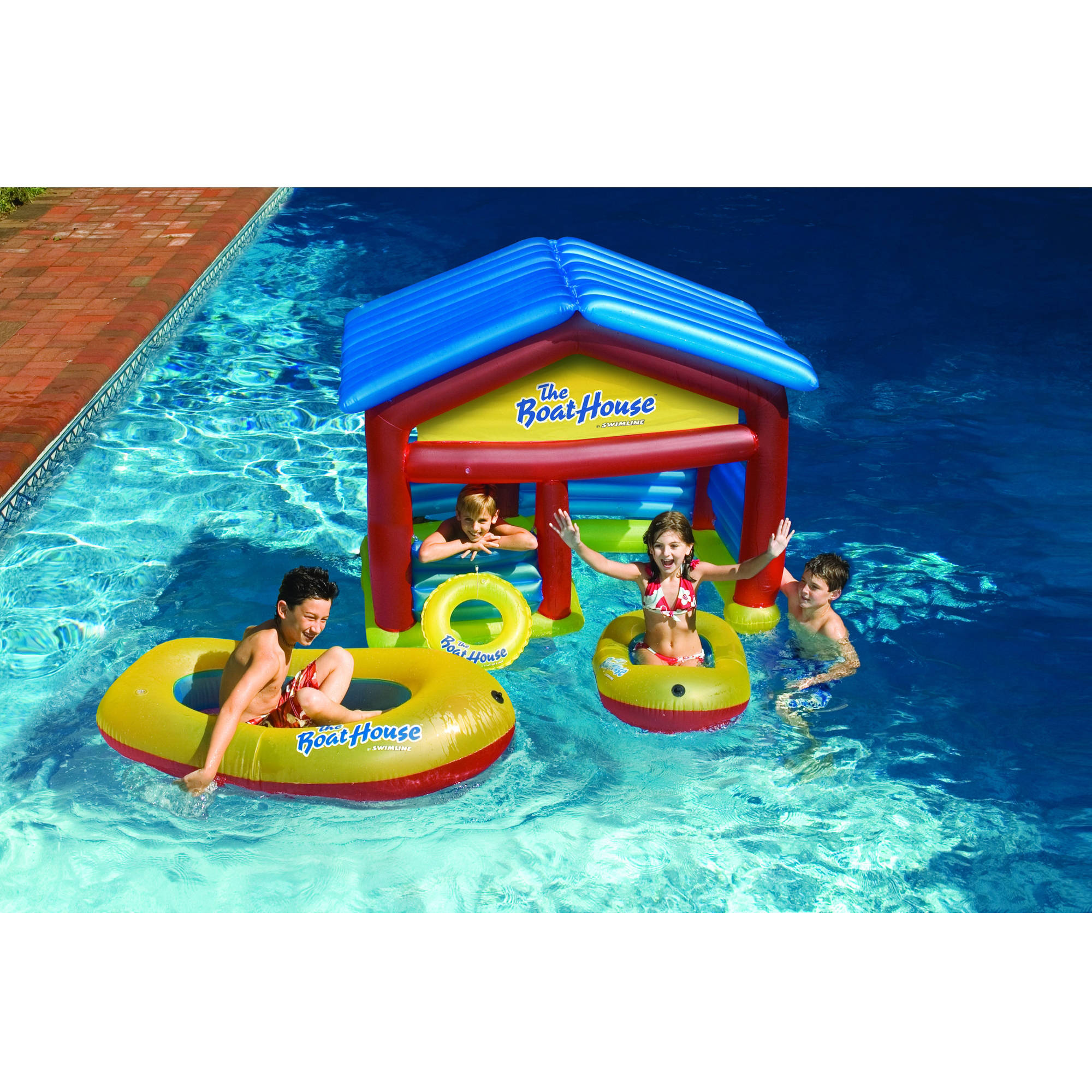 Swimline Boathouse Floating Habitat Inflatable for Swimming Pools by Swimline