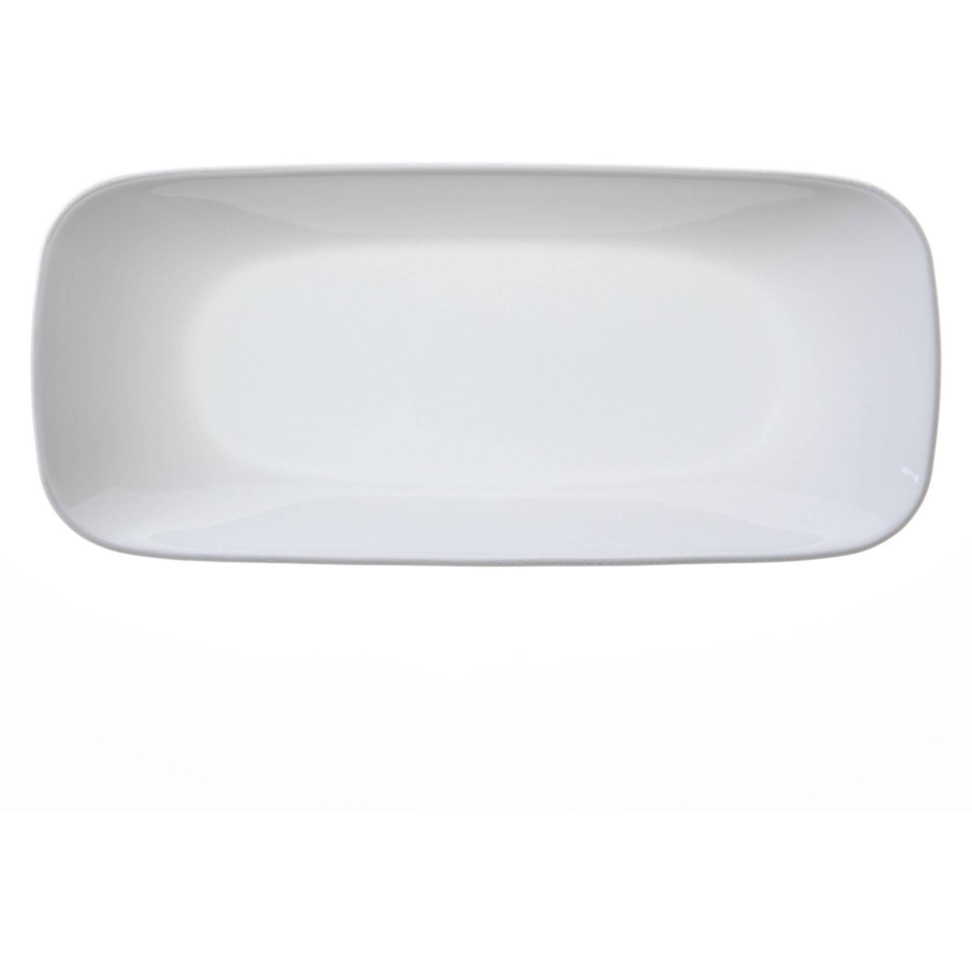 Corelle Square Round 10-1/2-Inch Serving Tray, Pure White