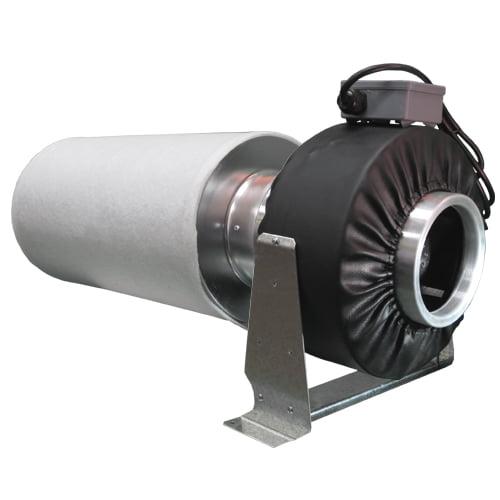 """Virtual Sun 8"""" Inline Exhaust Grow Light Fan +Carbon Air Filter Scrubber Cleaner"""