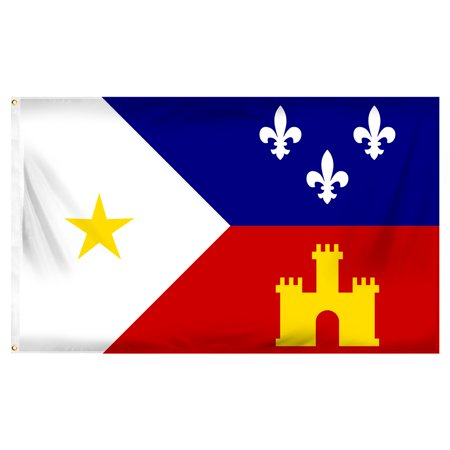 - Acadiana (Cajun) 3ft x 5ft Printed Polyester Flag