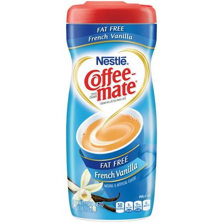 Coffee-Mate Fat Free Powder Coffee Creamer, French Vanilla, 15 Oz