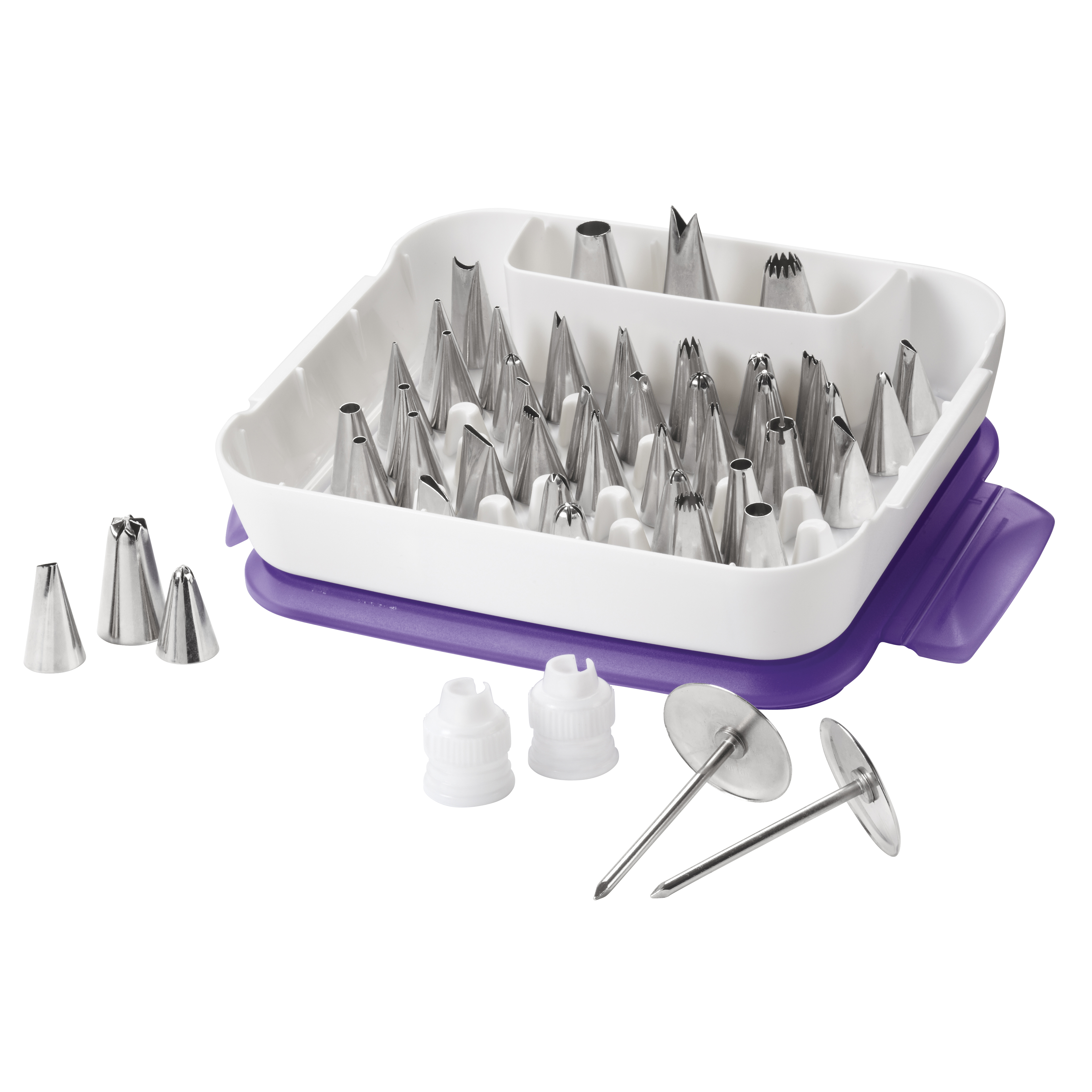 Wilton Master Cake Decorating Tips Set, 55-Piece Cake Decorating Supply Set