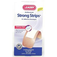 Leader Strong Strips XL Bandage 1.75inX4in 10ct 096295124088A115