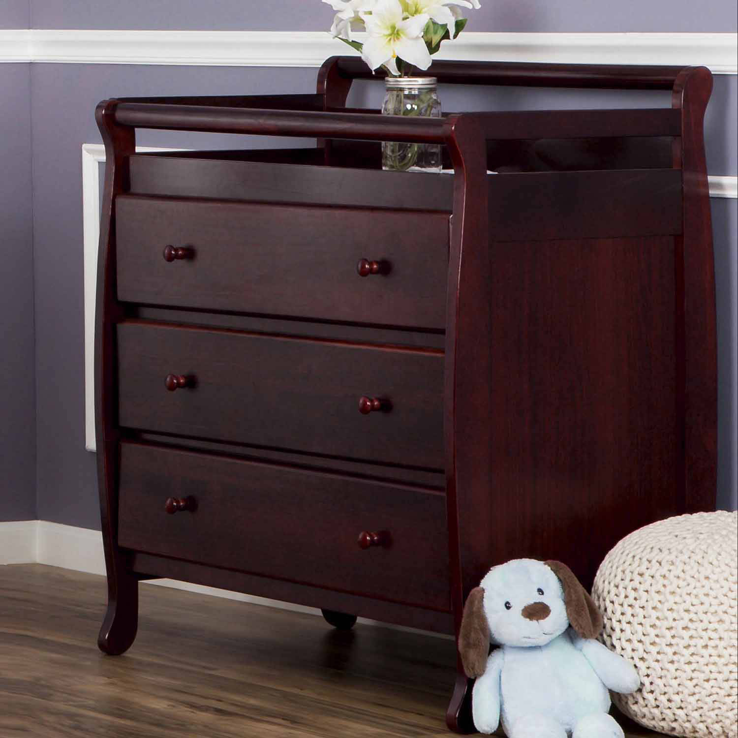 Dream On Me - Liberty Collection 3-Drawer Changing Table, Choose Your Finish