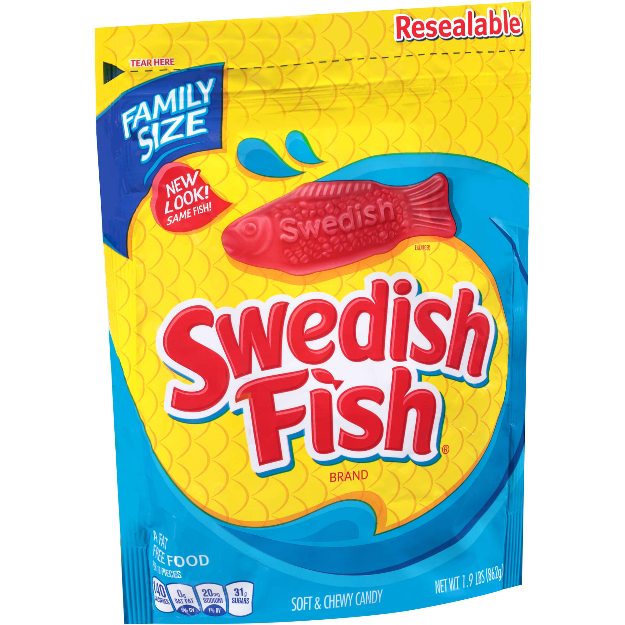 Swedish Fish Soft & Chewy Candy, 1.9 lbs