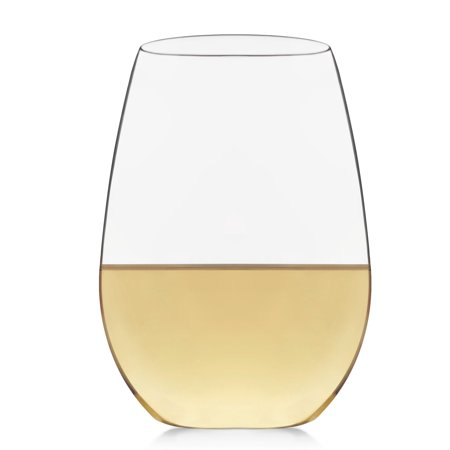 Libbey Signature Kentfield Stemless White Wine Glasses, Set of 4 - Halloween Decorated Wine Glasses