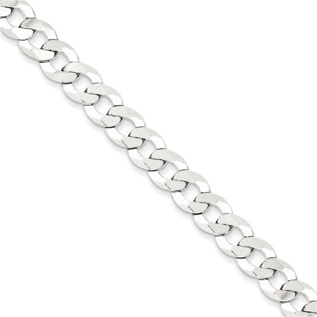 Sterling Silver 8Mm Close Link Flat Curb Chain Length 18