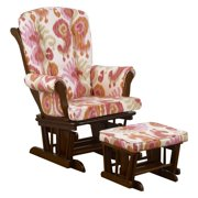 Cotton Tale SNGC Designs Glider Ikat on Espresso with Ottoman
