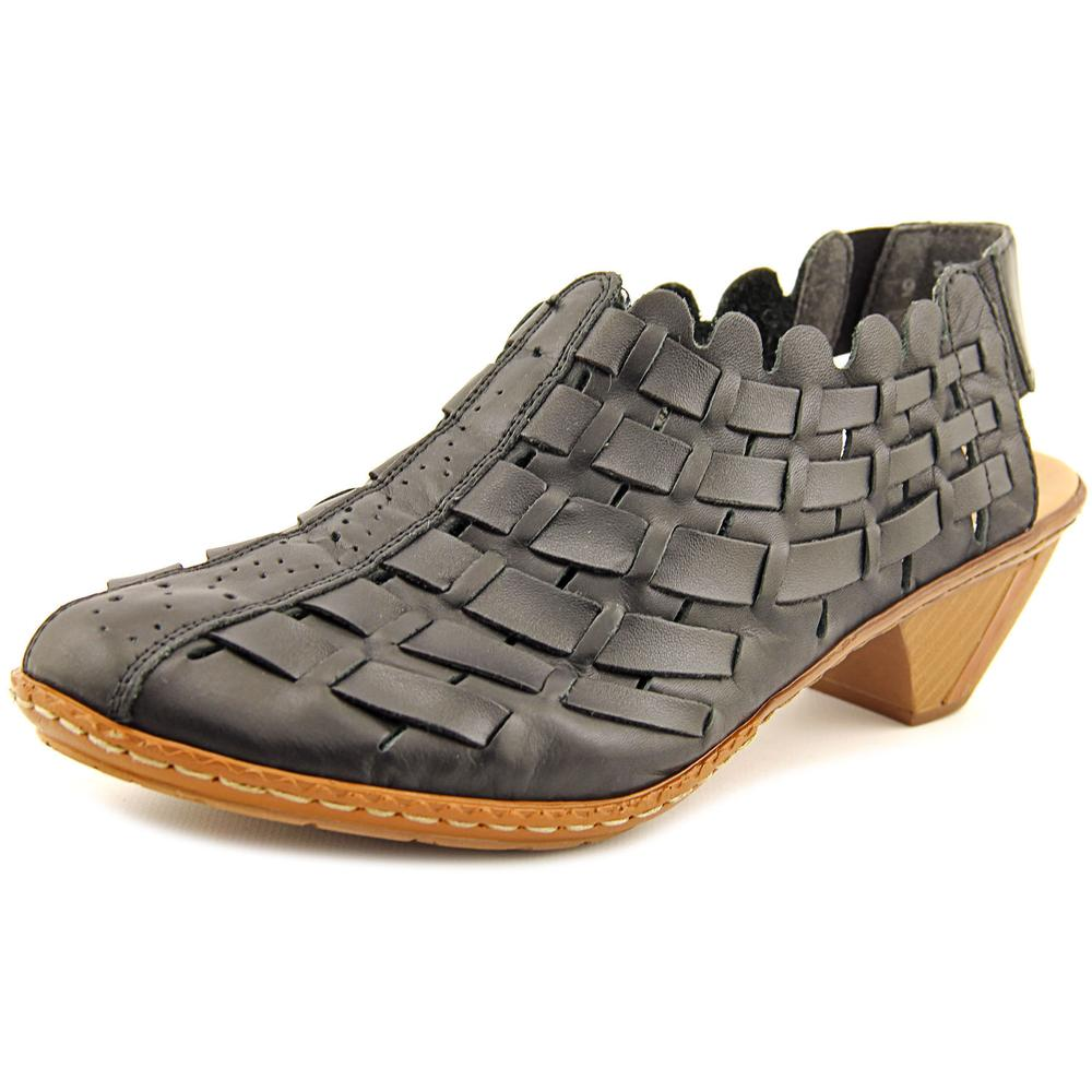 Rieker Antistress 46778-01 Women  Round Toe Leather Black...