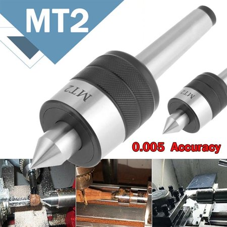 Dilwe MT2 Precision Rotary Live Revolving Milling Center Taper Metal Work Lathe Tool, Lathe Tools, Rolling Center