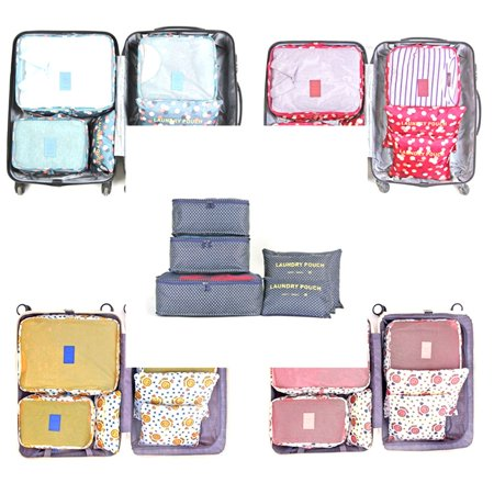 6pcs Travel Organizer Bag Storage Bag Pouch Dust-proof Case Luggage Suitcase - image 4 de 7