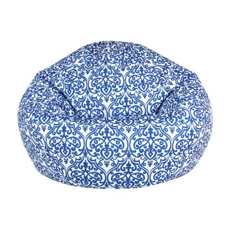 American Furniture Alliance Adult Round Chandelier Blue Bean Bag Chair Blue Bean Bag Chair