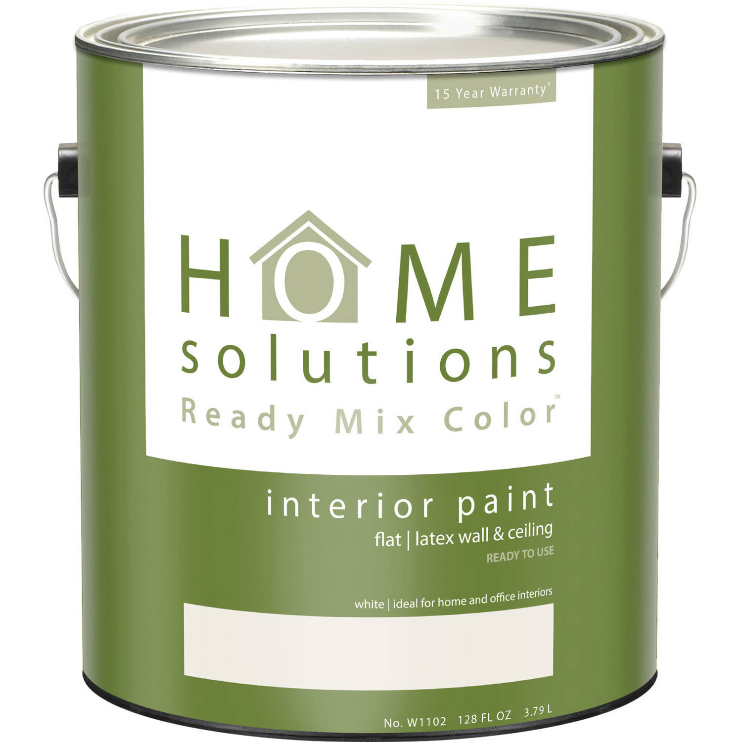 Home Solutions Ready Mix Color Flat White, Gallon