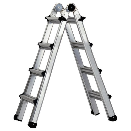 Cosco Home And Office Worlds Greatest 17 Ft Aluminum Multi Position Ladder Walmart Com