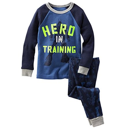 Oshkosh Bgosh Little Boys 2 Piece Snug Fit Cotton Pajama Set   Navy