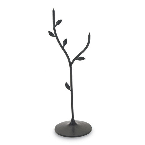 Achla Double Bowl Iron Leaf Stand