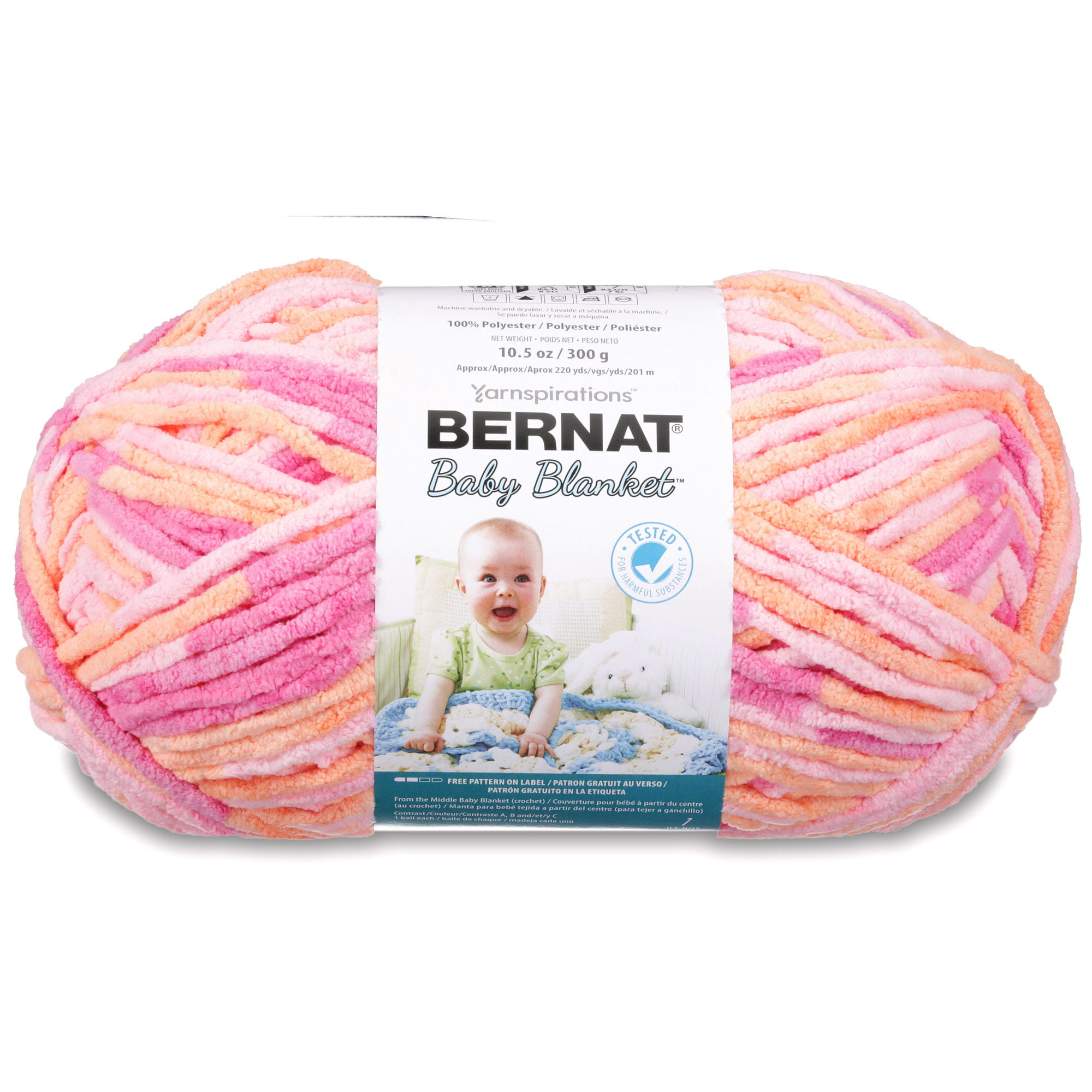 Bernat Baby Blanket Big Ball Yarn - Walmart.com