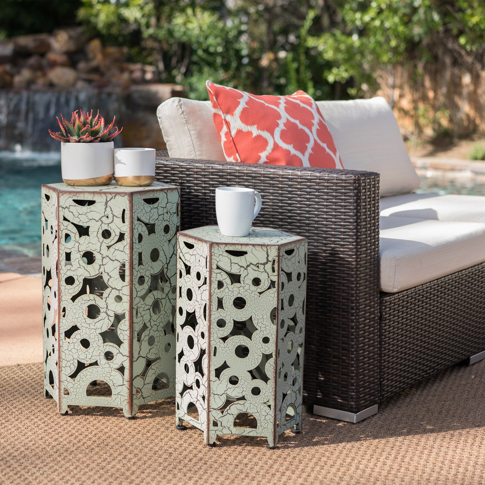 Coral Coast 2 Piece Nesting Table by Best Selling Home Decor Furniture LLC