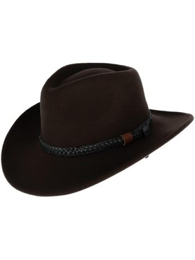 ff17411f4 Product Image Size Large Men's Wool Felt Outback Hat with Braided Band