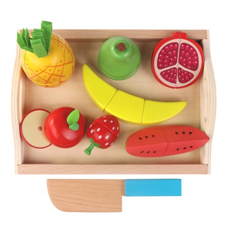 Astonishing 9Pcs Cutting Fruit Vegetables Set Wooden Magnetic Play Pretend Kitchen Food Toy Educational Playset With Cutting Board Fruit Set Download Free Architecture Designs Lectubocepmadebymaigaardcom