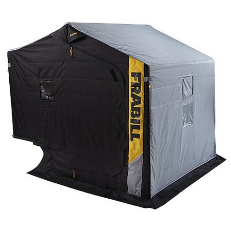 Frabill excursion ice shelter with side door and bench for Walmart ice fishing